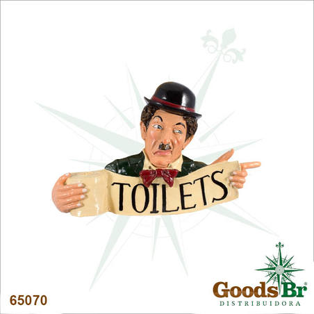 placa chaplin resina toilets  45x70x10cm