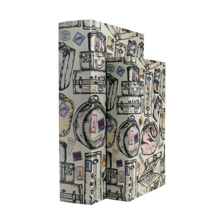 book box cj 2pc maletas travel  30x21x7cm