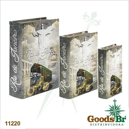 -book box cj 3pc rio janeirocristo  36x25x10cm