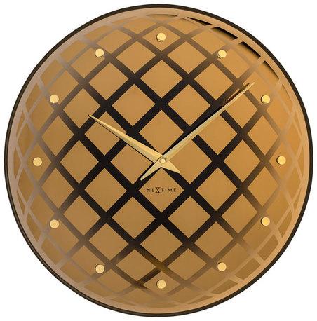 relogio parede pendula round copper nextime d=43cm