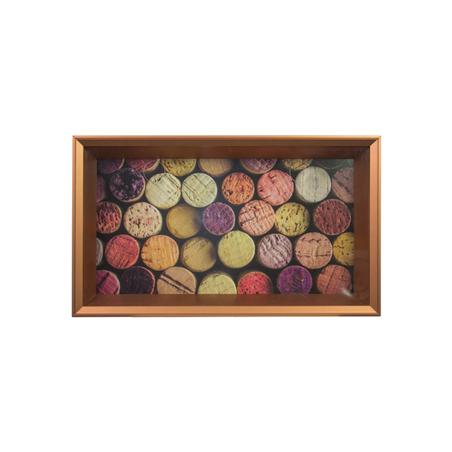 quadro porta rolhas color rolhas 35x60x7cm