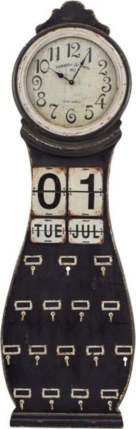 -relogio/calendar parede madeira c/gancho  146x46x4cm