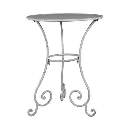 mesa de canto metal arabescosbranca  52x40,5x40,5cm