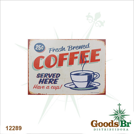 tela impressa fresh brewed coffee  70x50x4cm