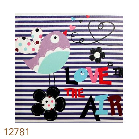 tela impressa love in t air20x20x4cm