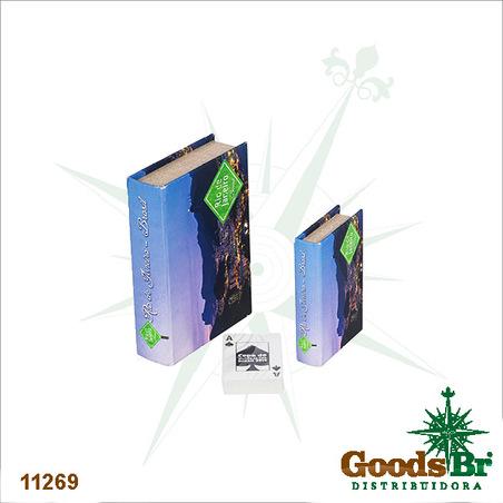 -book box cj 2pc rio de janeiro  20x14x4cm