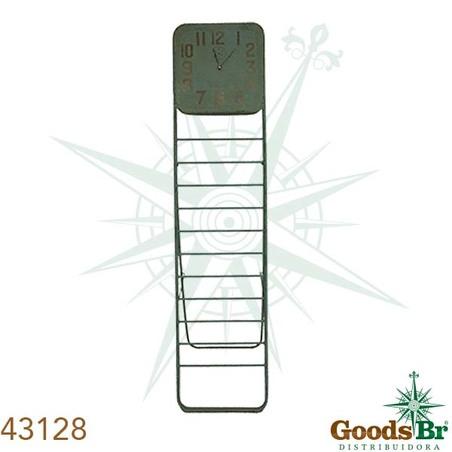 -relogio revisteiro metal antikazul  181x43x5cm