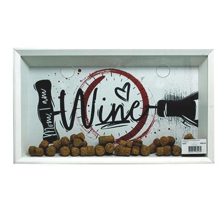 quadro porta rolhas wine desenho 35x60x7cm