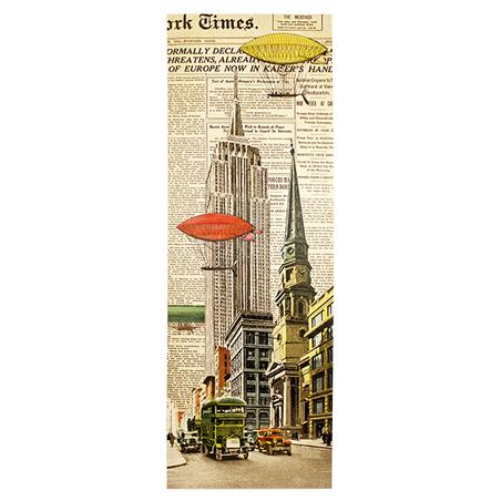tela impressa empire state e balloons  40x120x4cm