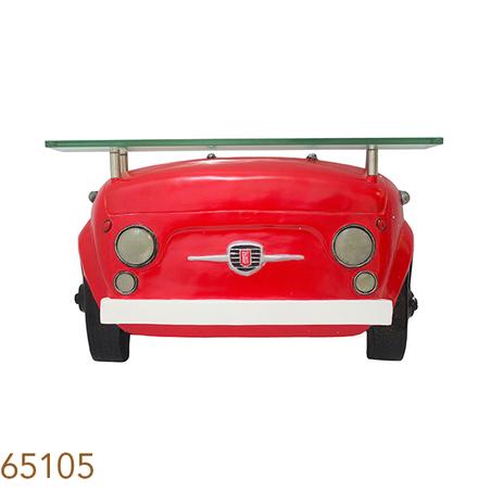 aparador parede fte fiat 500 vermelho  42x70x12cm