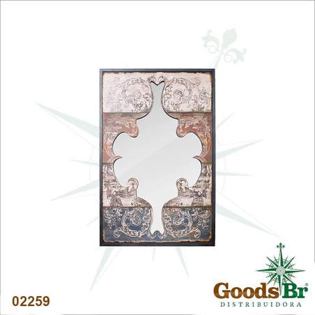 espelho arabescos pintds recortados  116x75x5cm