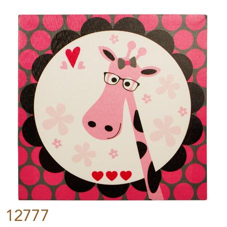 -tela impressa girafa ro  20x20x4cm