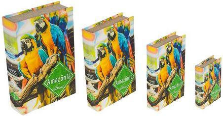 book box cj 4pc araras amazoa  30x21x7cm