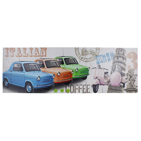 -tela impressa italian candycars  30x90x2,5cm