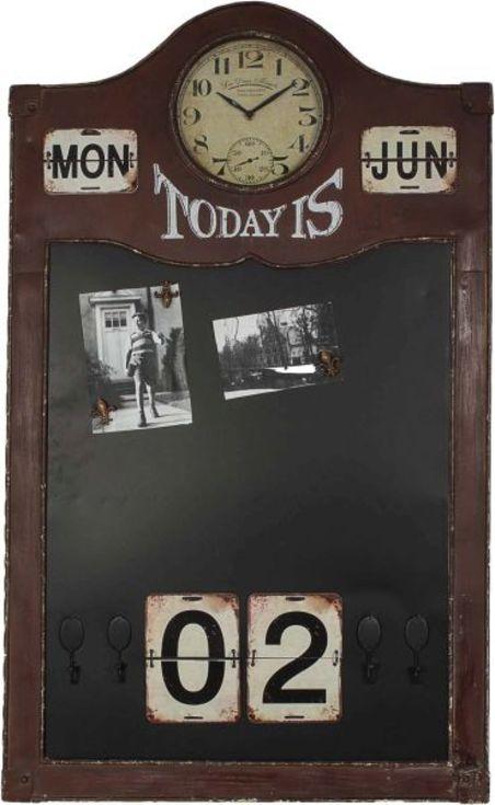 quadro negro/calendar/rel antique  101x61x6,5cm