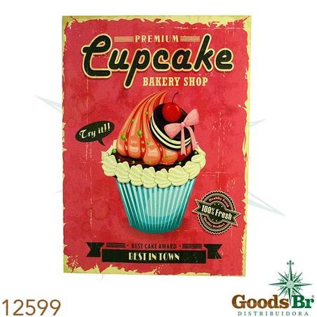 -tela impressa cup cake fundo rosa  70x50x3cm