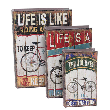 book box cj3pc life is like 35x26x9cm
