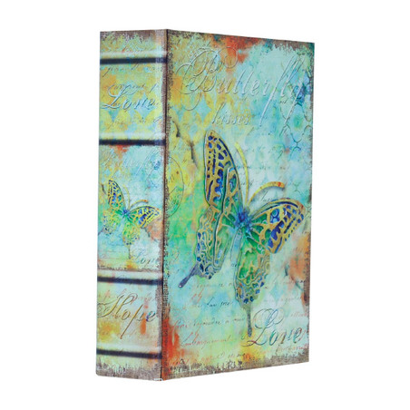 -book box borboleta em metallove  24x18x6cm