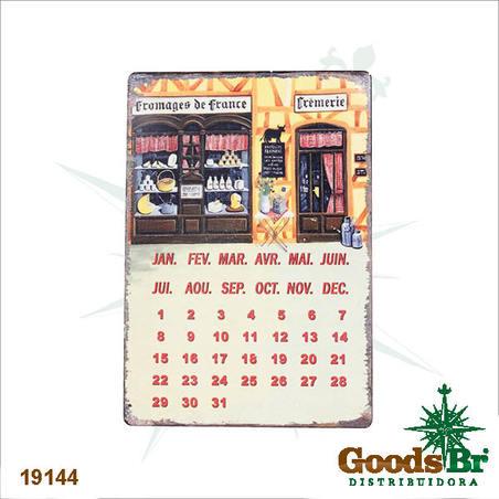 -calendario magnetico em metal doceria  21x14x0,1cm