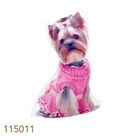 peso para porta yorkshire roupa rosa  33x20x9cm