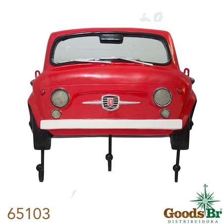 -espelho fte fiat 500 vermelho c ganchos  42x45x6cm