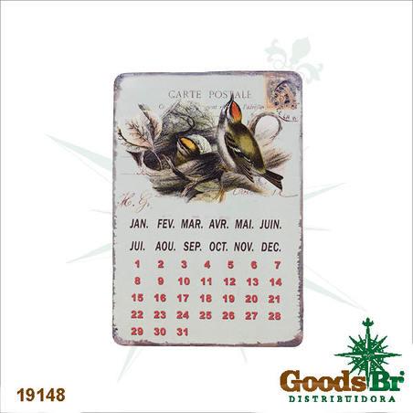 -calendario magneticoem metal ninho  21x14x0,1cm