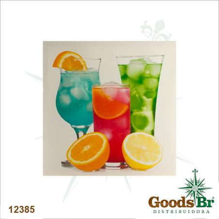 tela impressa bebidas laranj 40x40x4cm