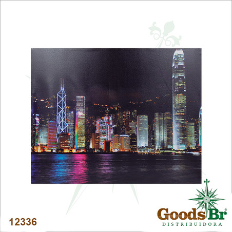 tela leds buildings hong kong 80x100x4cm