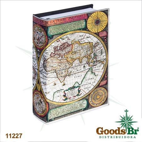 book phone seda mapa mundi cores  22x15x6cm