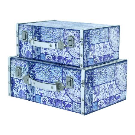 maleta cj 2 pc azulejo  35x25x14cm