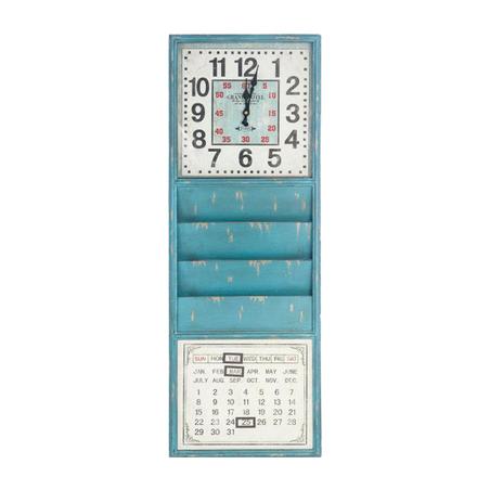 -relogio revisteiro calendarazul  100x35x5cm