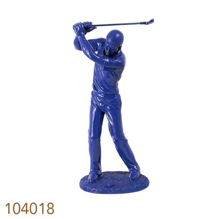 estatua golfista azul 38x17x14cm