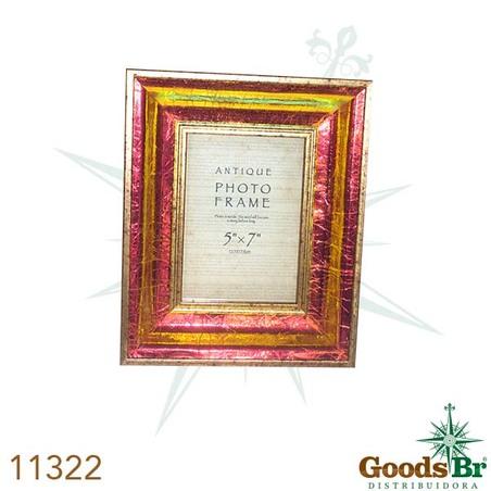 porta retrato dourado brilho escuro 13x18  28x23x4cm