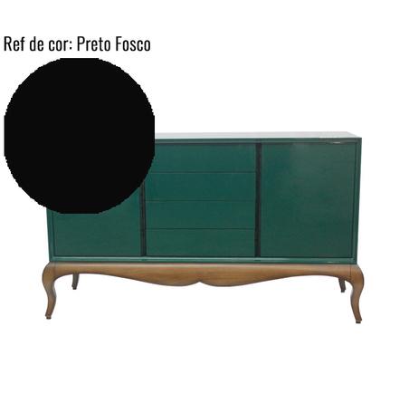 BUFFET VETTA UNA LACA PRETO FOSCO 95x170x62cm