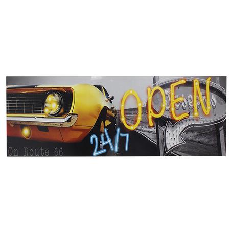 -tela impressa c led carro open  70x195x4cm