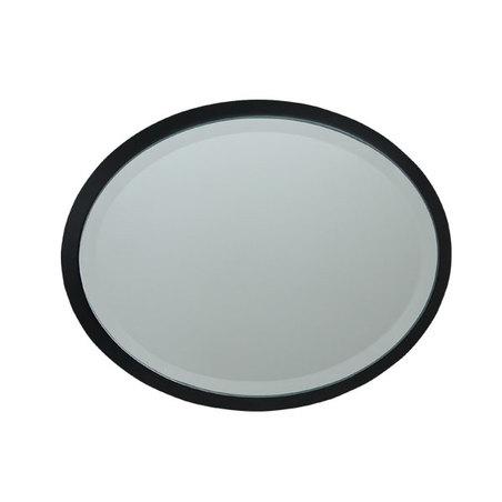 ESPELHO OVAL MDF BLACK GOLDWAY52X37X1,6CM