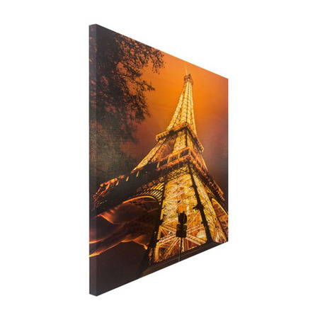 tela impressa c led flash torre eiffel  190x150x4cm