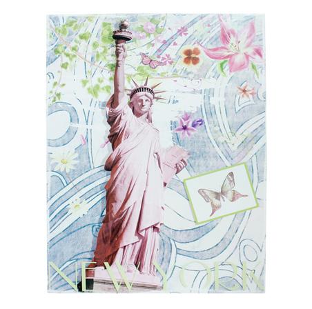 -tela impressa estatua da liberdade  90x70x4cm