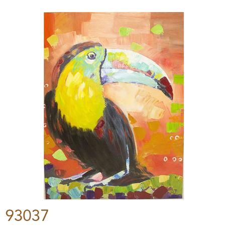 -quadro pintura de tucano  120x90x4cm