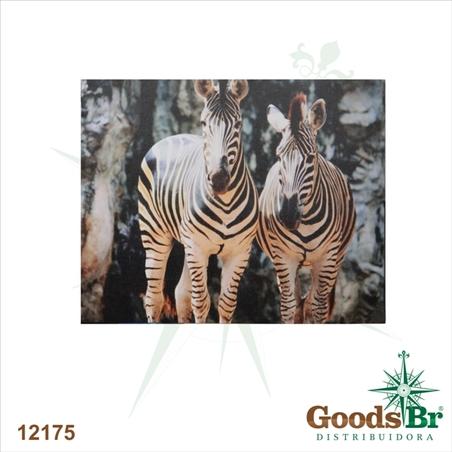 tela impressa zebras africa80x100x4cm