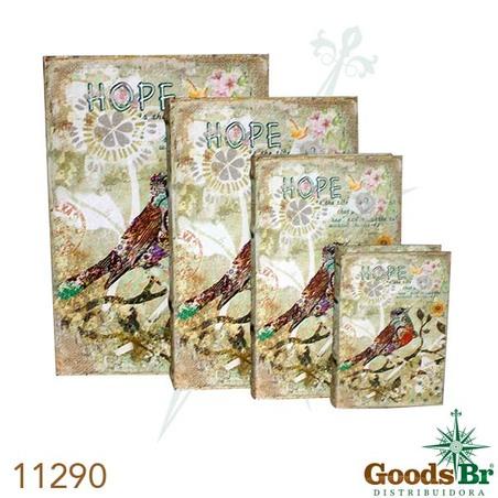 -book box cj 4pc passaro hope  30x21x7cm