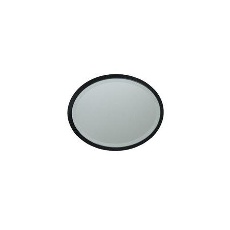 ESPELHO OVAL MDF BLACK GOLDWAY24X19X1,3CM