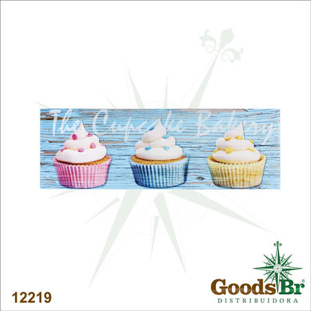 tela impressa cupcakes  30x90x3cm