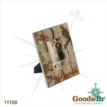 -porta retrato linho 10x15 silver dream  24x18x1cm