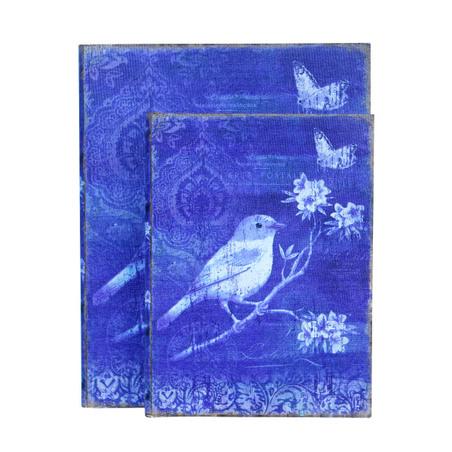 book box cj 2 pc blue bird30x24x8cm