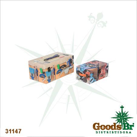 -caixa cj 2pcs ferramentas  36x20x17cm