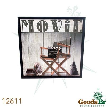 tela impressa c mold movie cadeira  60x60x3,5cm