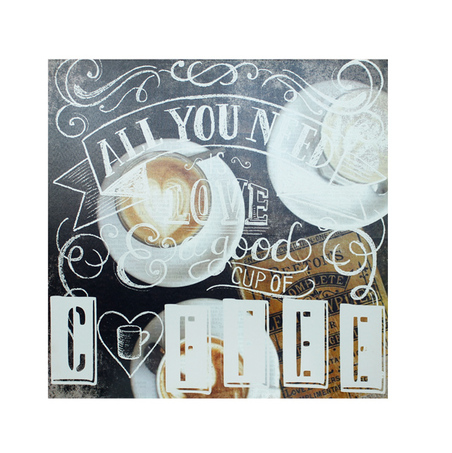 -tela impressa all u need islove coffee  60x60x4cm