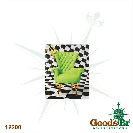 tela impressa poltrona verde  50x40x2cm