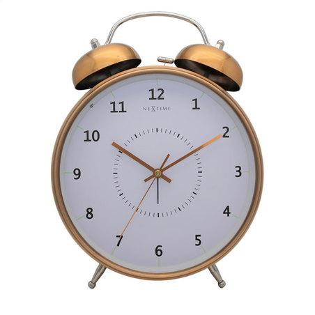relogio mesa despertador copper nextime 30x23cm